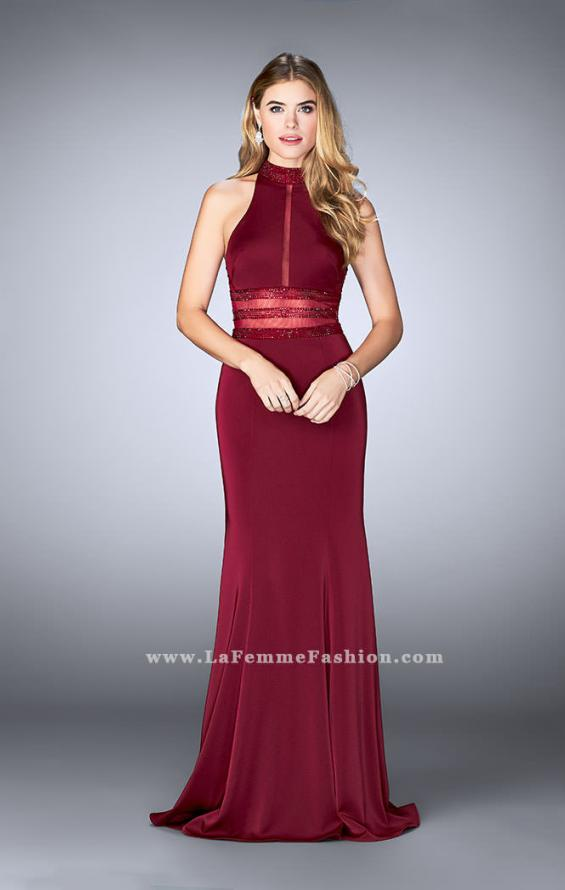 Picture of: Jersey Dress with Sheer Beaded Back and Waist, Style: 24654, Detail Picture 1