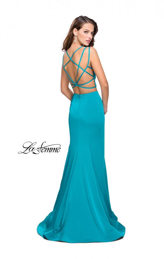 Picture of: Two Piece Jersey Prom Dress with Strappy Back, Style: 25553, Detail Picture 3