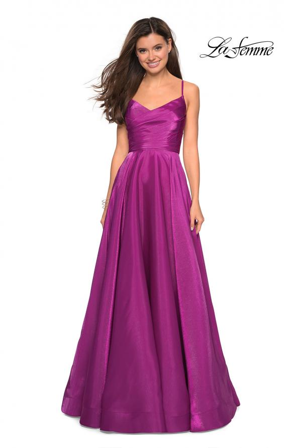 Picture of: Long Satin Simple Prom Dress with Empire Waist, Style: 27226, Detail Picture 1