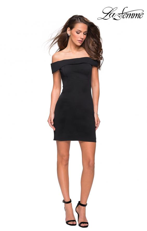 Picture of: Off the Shoulder Chic Little Black Dress, Style: 27087, Main Picture