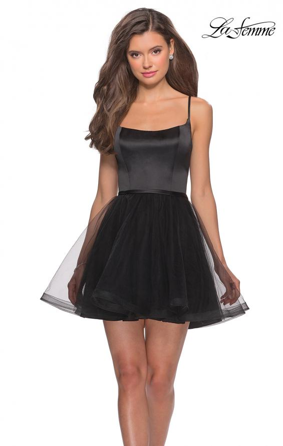 Picture of: Short Tulle Homecoming Dress with Scoop Neck, Style: 28156, Main Picture