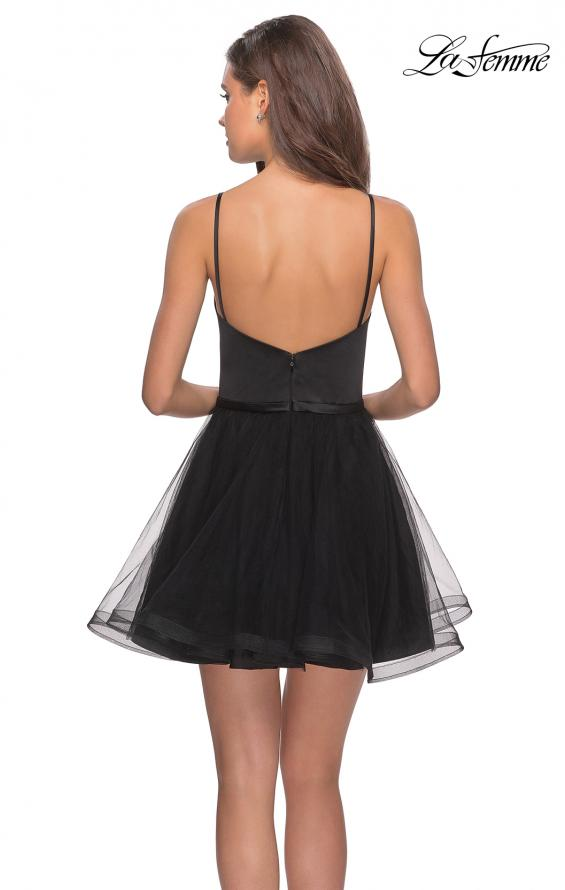 Picture of: Short Tulle Homecoming Dress with Scoop Neck, Style: 28156, Back Picture