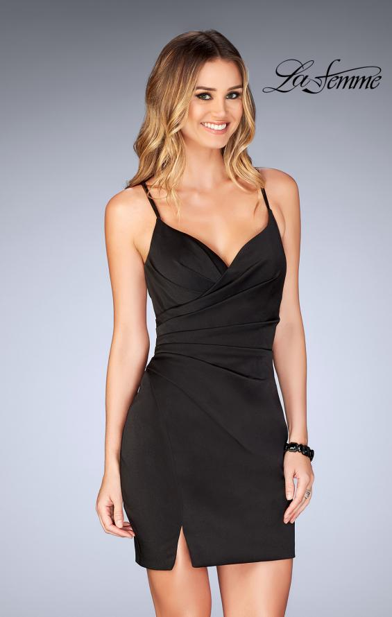 Picture of: Gathered Jersey Short Dress with Strappy Back, Style: 25127, Detail Picture 1