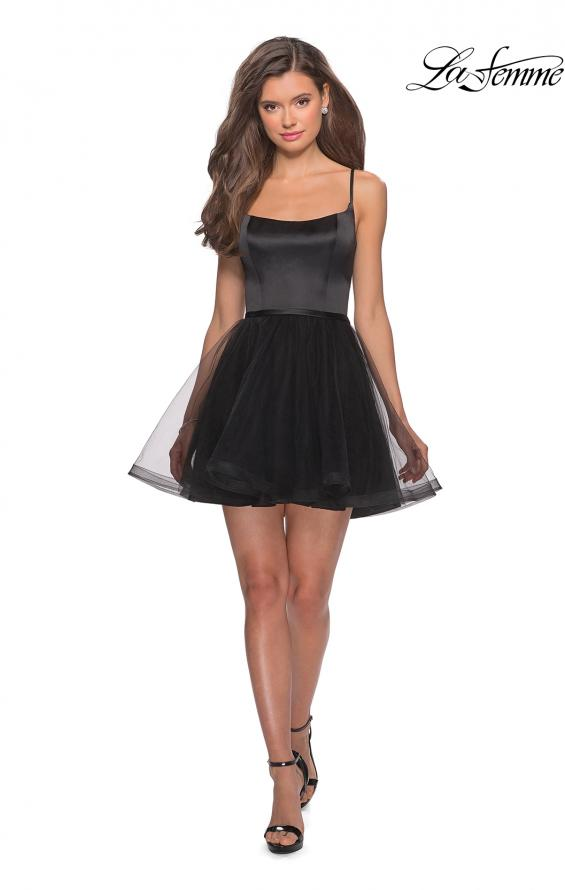Picture of: Short Tulle Homecoming Dress with Scoop Neck, Style: 28156, Detail Picture 3
