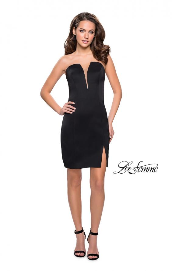Picture of: Simple Satin Sweetheart Homecoming Dress, Style: 26629, Detail Picture 4
