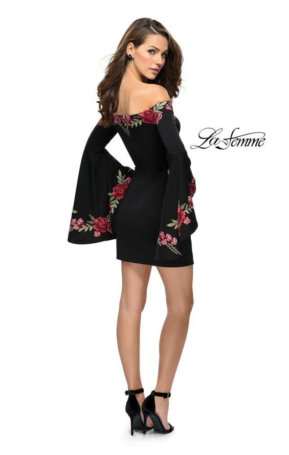 Picture of: Off the Shoulder Mini Dress with Dramatic Bell Sleeves, Style: 26674, Detail Picture 4