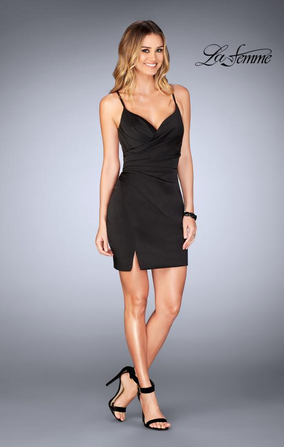 Picture of: Gathered Jersey Short Dress with Strappy Back, Style: 25127, Detail Picture 5