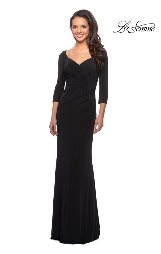 Picture of: 3/4 Sleeve Long Jersey Dress with Sweetheart Neckline, Style: 26955, Detail Picture 1