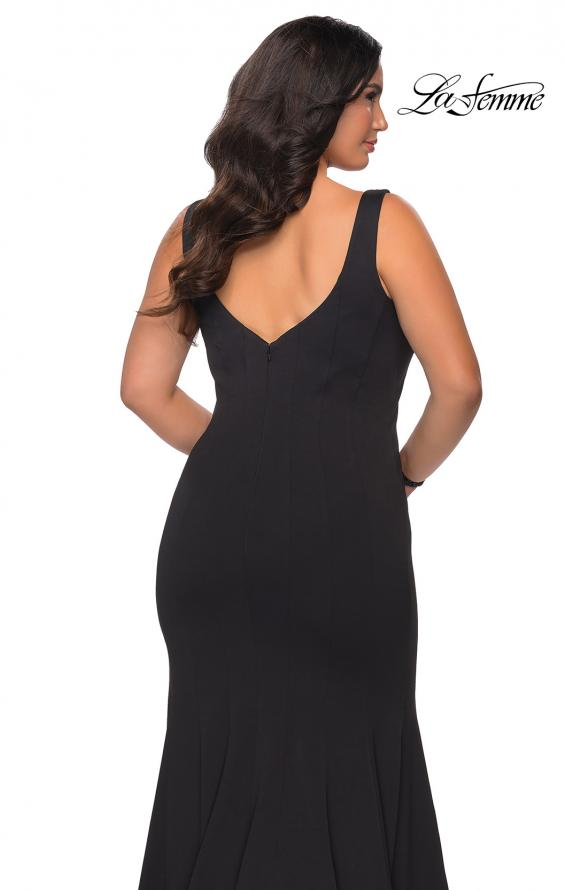 Picture of: Long Jersey Plus Size Mermaid Prom Dress in Black, Style: 28975, Detail Picture 3
