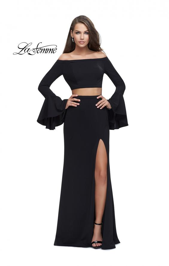 Picture of: Off the Shoulder Two Piece Dress with Flared Sleeves, Style: 25261, Main Picture