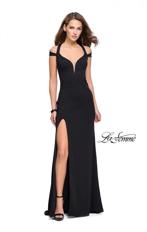 Picture of: Jersey Prom Dress with Off the Shoulder Straps, Style: 25761, Main Picture