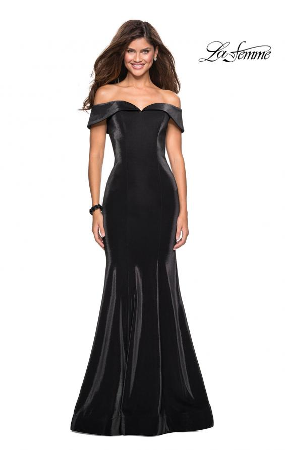 Picture of: Off The Shoulder Long Jersey Prom Dress, Style: 27176, Main Picture