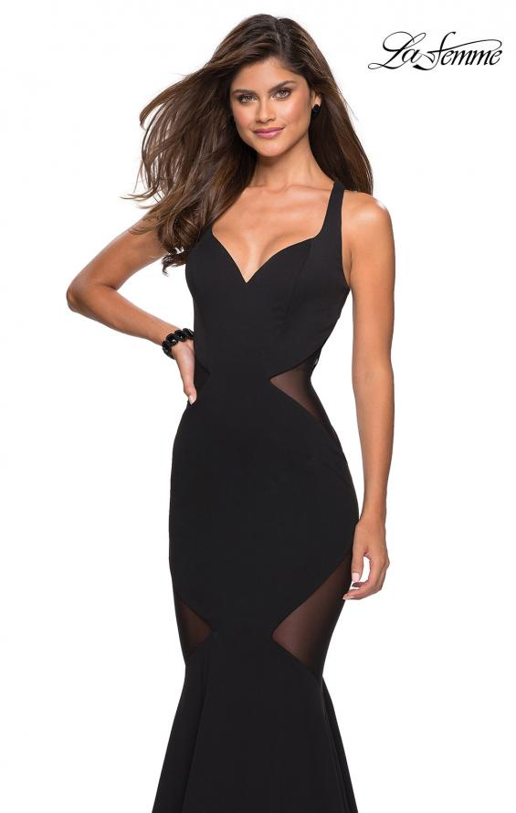 Picture of: Sultry Black Prom Dress with Illusion Detailing, Style: 27454, Main Picture