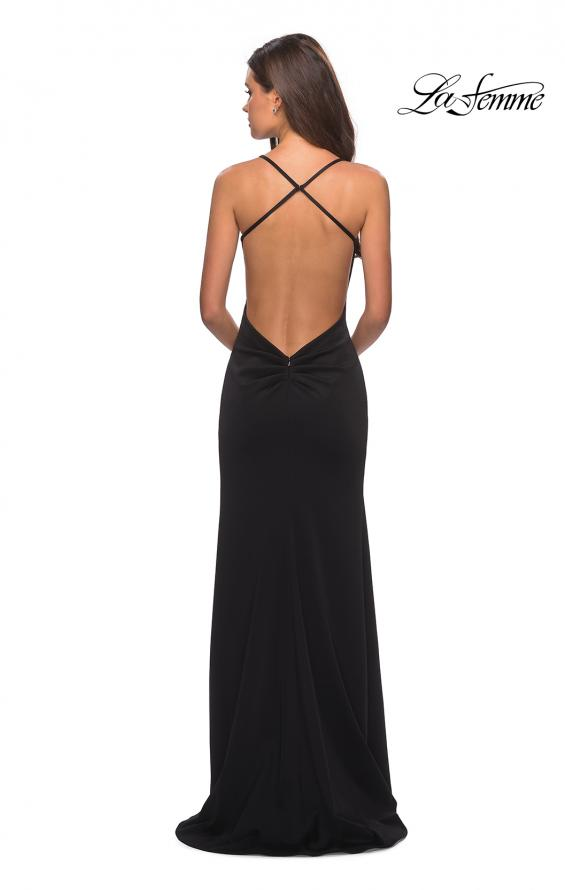Picture of: Floor Length Jersey Dress with Soft V Neckline, Style: 27657, Main Picture