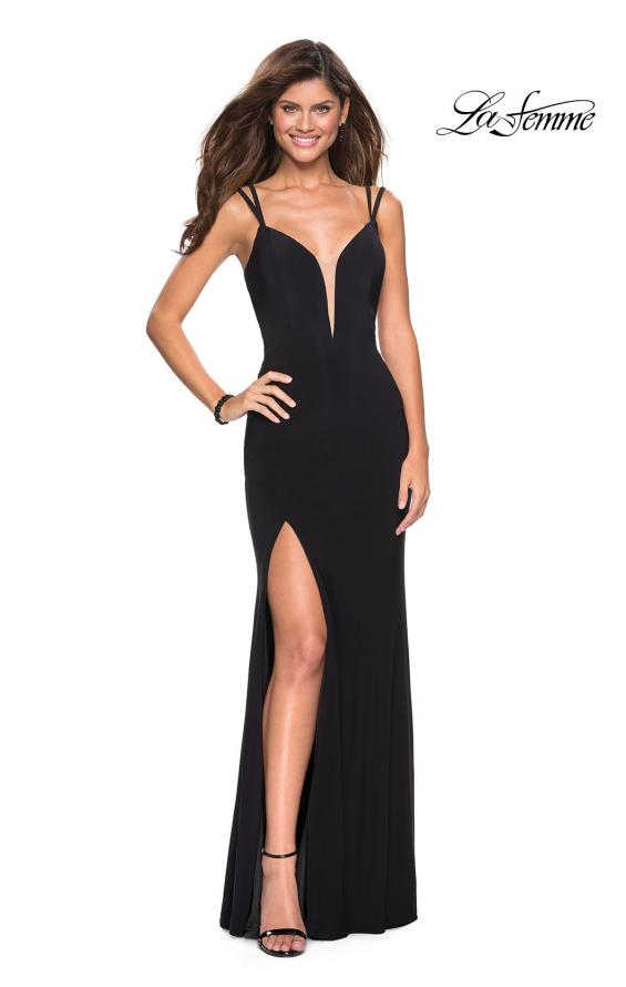 Picture of: Sultry Long Dress with Intricate Strappy Back, Style: 27072, Detail Picture 8