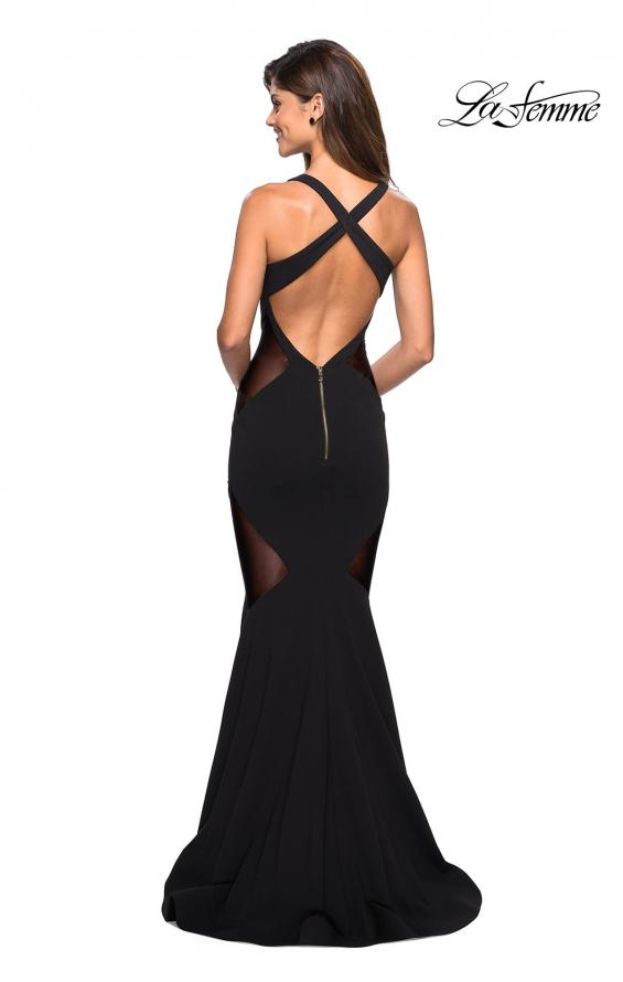 Picture of: Sultry Black Prom Dress with Illusion Detailing, Style: 27454, Back Picture