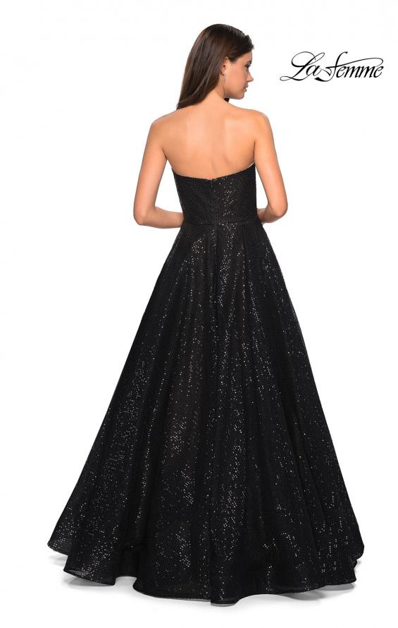 Picture of: Black Strapless Fully sequin Formal Prom Gown in Black, Style: 27467, Back Picture