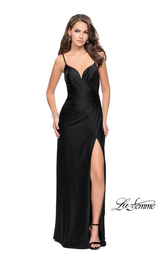 Picture of: Satin Slip Prom Dress with Strappy Back, Style: 25270, Detail Picture 1