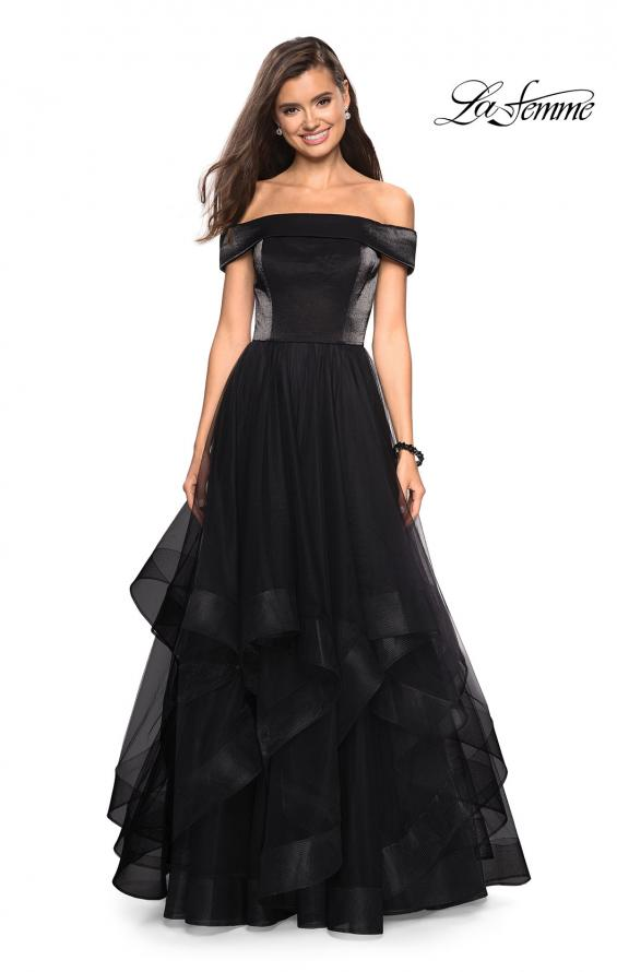 Picture of: Elegant Off the Shoulder Tulle Layered Ball Gown, Style: 27224, Detail Picture 1