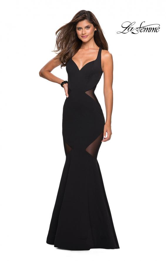 Picture of: Sultry Black Prom Dress with Illusion Detailing, Style: 27454, Detail Picture 2