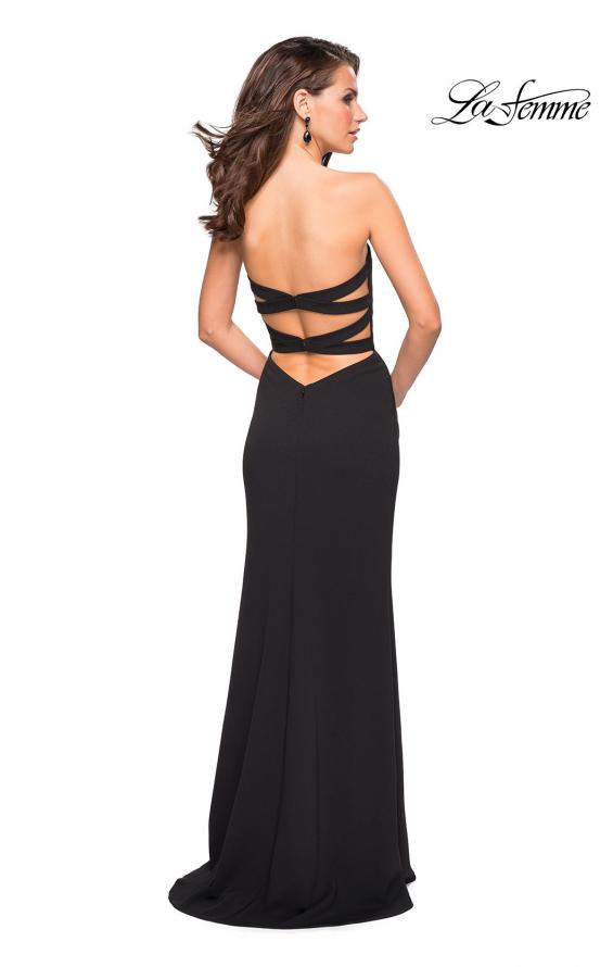 Picture of: Simple Strapless Prom Dress with Double Strap Back in Black, Style: 27035, Detail Picture 3
