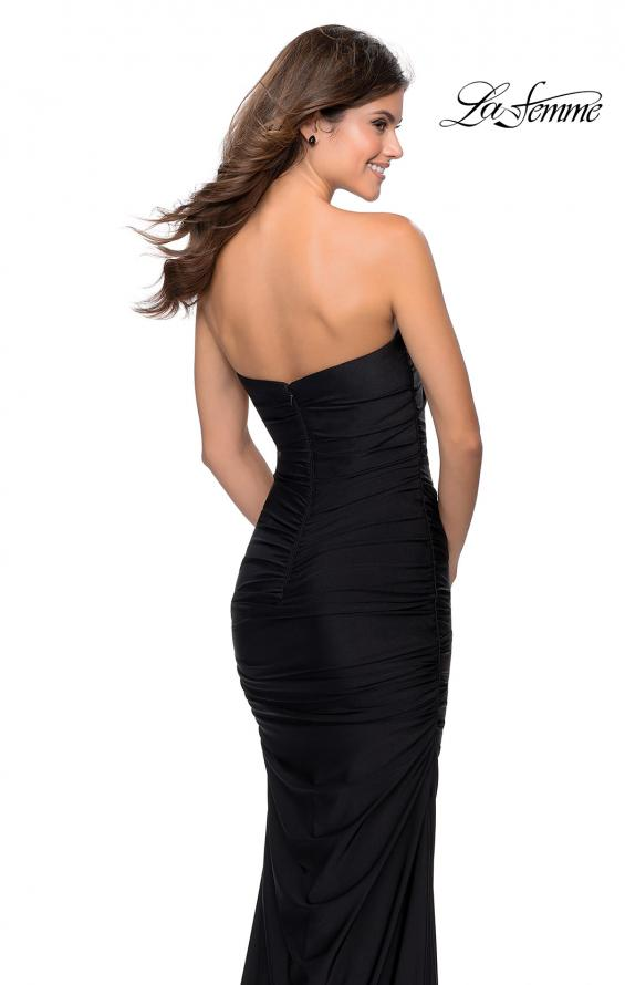 Picture of: Long Strapless Sweetheart Neckline Prom Dress in Black, Style: 28324, Detail Picture 3