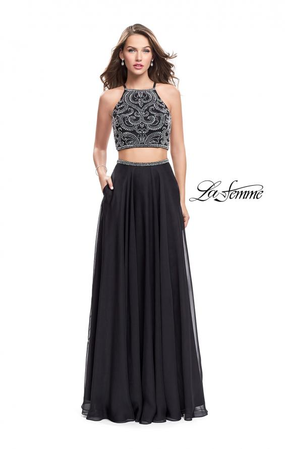 Picture of: Long Two Piece Dress with Beading and Strappy Back, Style: 25469, Detail Picture 4