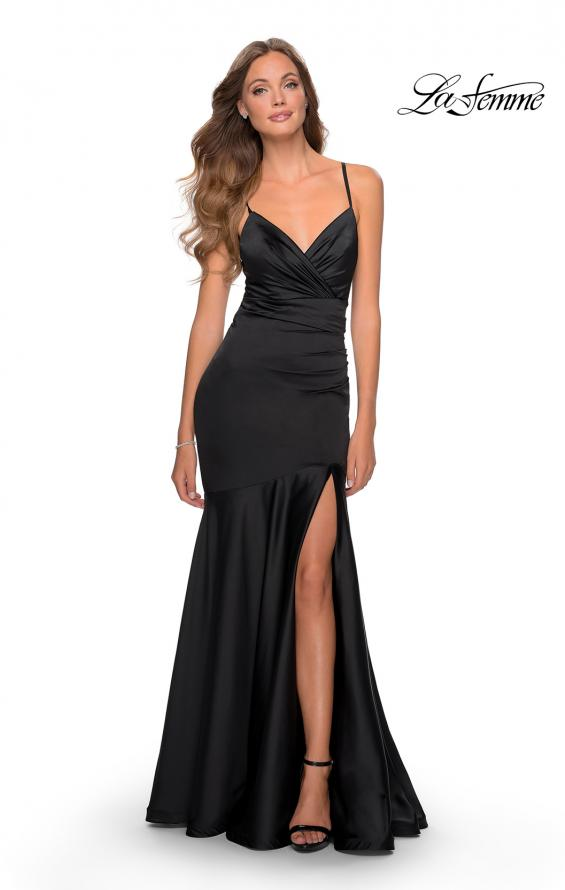 Picture of: Prom Dress with Ruching and Sweetheart Neckline in Black, Style: 28720, Detail Picture 4