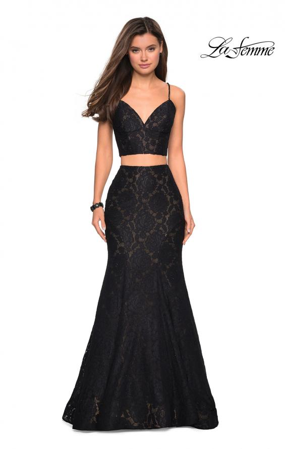 Picture of: Lace Two Piece Gown with Rhinestone Accents, Style: 27589, Detail Picture 5