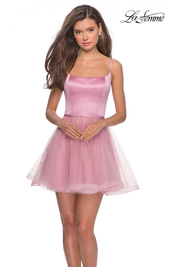 Picture of: Short Tulle Homecoming Dress with Scoop Neck, Style: 28156, Detail Picture 1