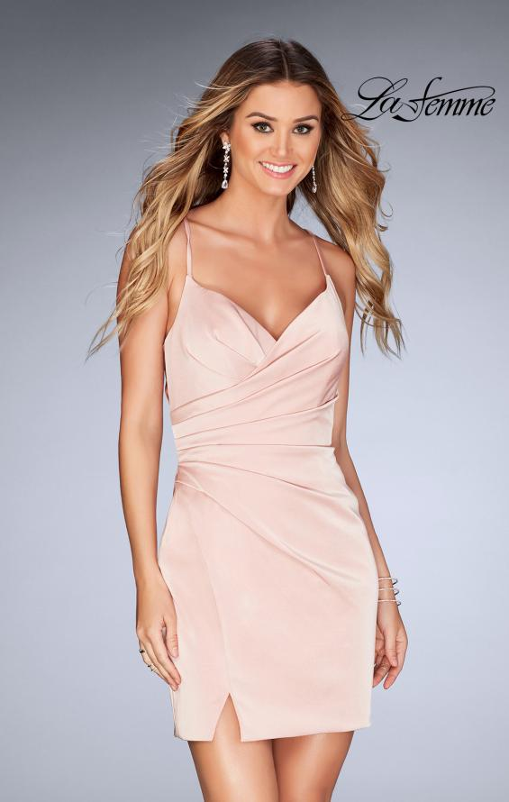 Picture of: Gathered Jersey Short Dress with Strappy Back, Style: 25127, Detail Picture 2