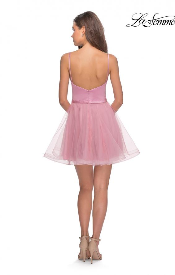 Picture of: Short Tulle Homecoming Dress with Scoop Neck, Style: 28156, Detail Picture 2