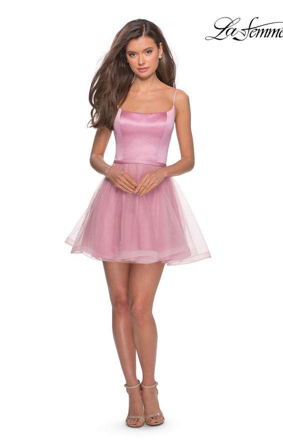 Picture of: Short Tulle Homecoming Dress with Scoop Neck, Style: 28156, Detail Picture 4
