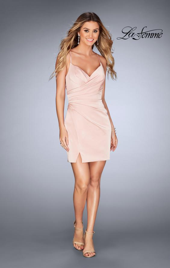 Picture of: Gathered Jersey Short Dress with Strappy Back, Style: 25127, Detail Picture 6