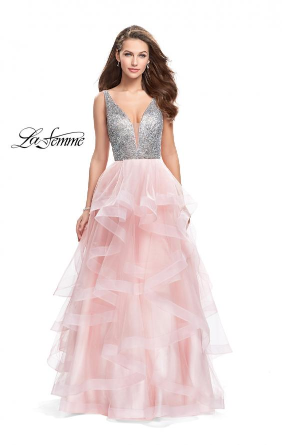Picture of: Beaded Bodice Ball Gown with Tulle Skirt, Style: 26223, Main Picture