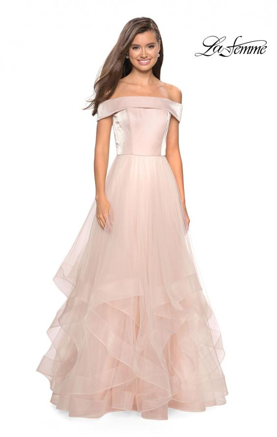 Picture of: Elegant Off the Shoulder Tulle Layered Ball Gown, Style: 27224, Main Picture