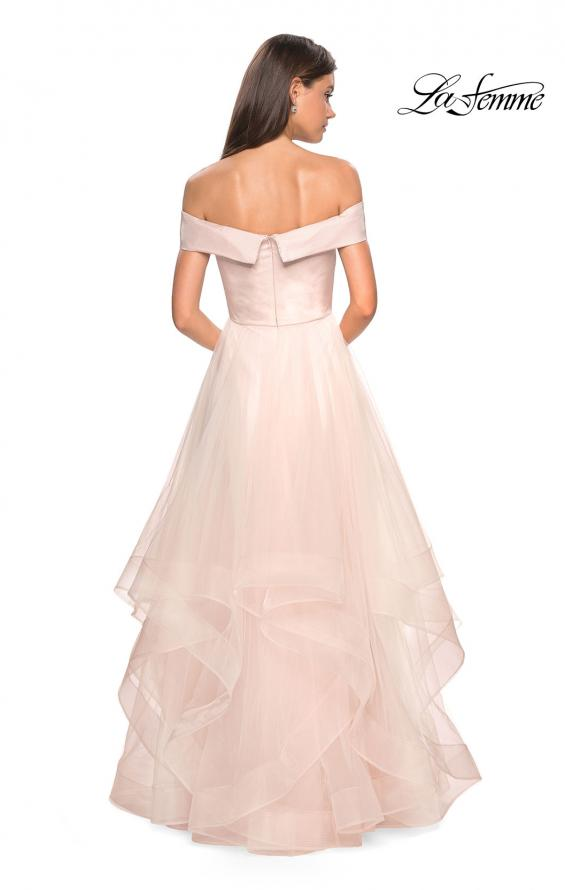 Picture of: Elegant Off the Shoulder Tulle Layered Ball Gown, Style: 27224, Back Picture