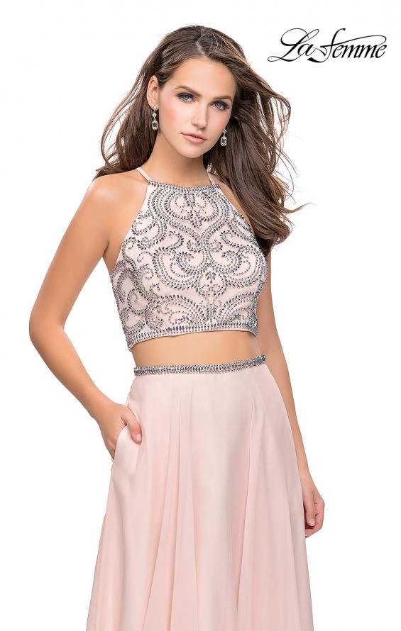 Picture of: Long Two Piece Dress with Beading and Strappy Back, Style: 25469, Detail Picture 2