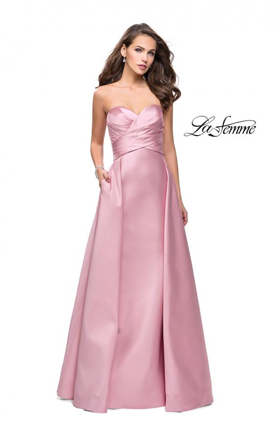 Picture of: Strapless A-line Prom Dress with Cape Skirt and Pockets, Style: 25738, Detail Picture 3