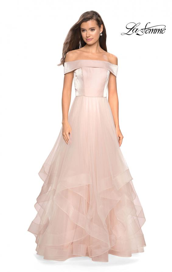 Picture of: Elegant Off the Shoulder Tulle Layered Ball Gown, Style: 27224, Detail Picture 3