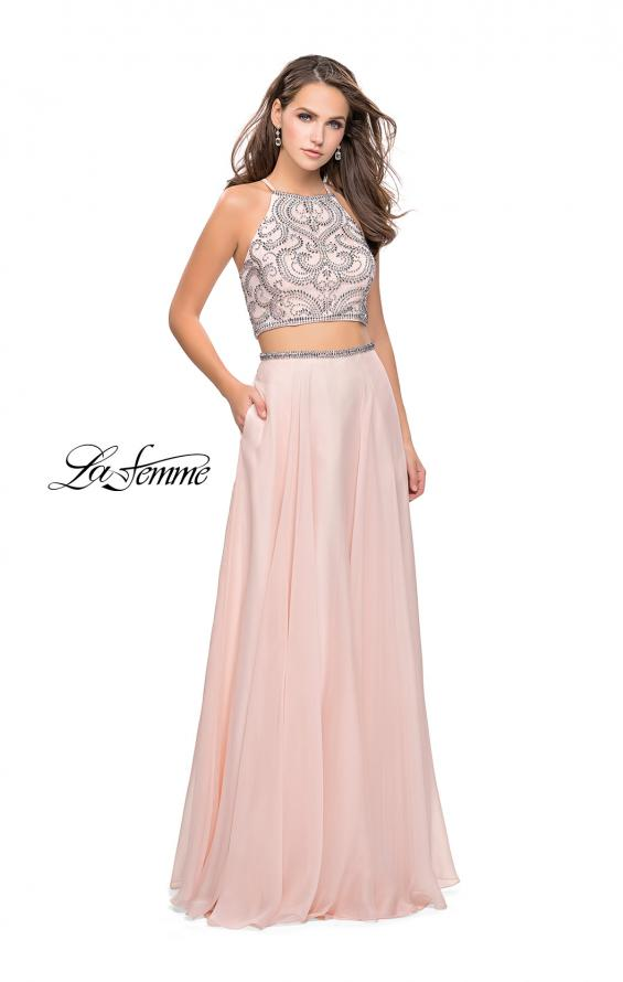 Picture of: Long Two Piece Dress with Beading and Strappy Back, Style: 25469, Detail Picture 5