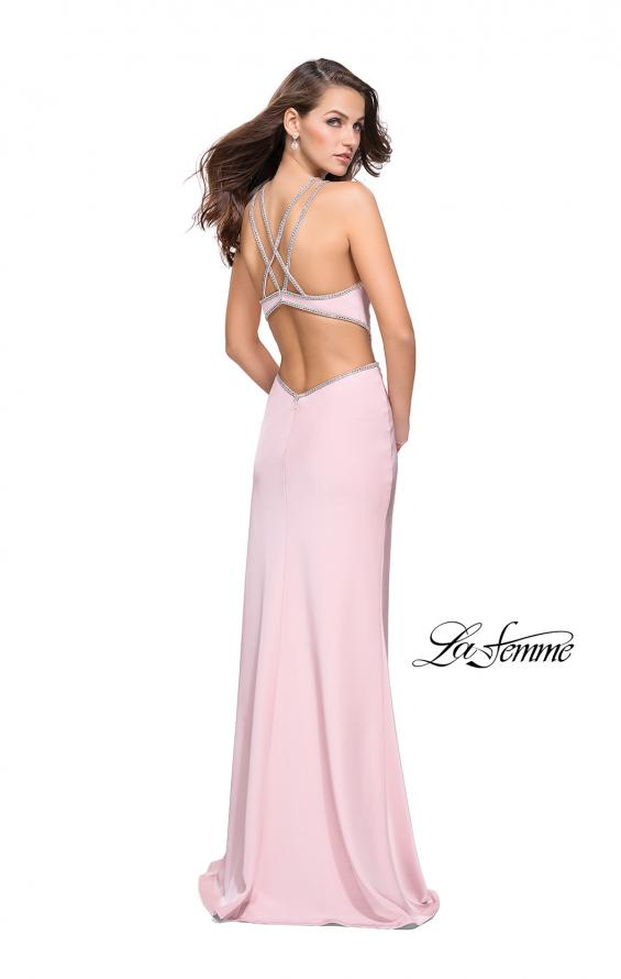 Picture of: Form Fitting Gown with Metallic Embellishments and Slit, Style: 25508, Detail Picture 5