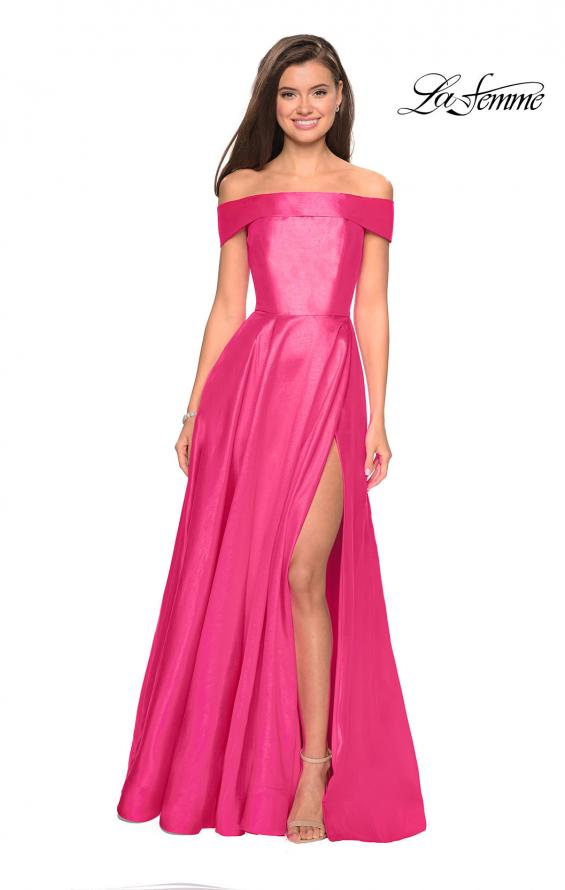 Picture of: Long Off The Shoulder Gown with Pockets, Style: 27005, Detail Picture 2