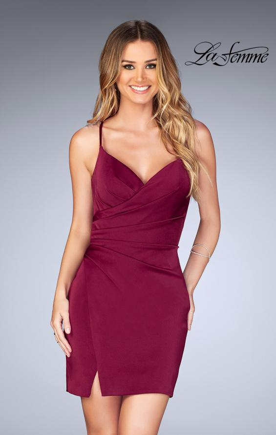 Picture of: Gathered Jersey Short Dress with Strappy Back, Style: 25127, Main Picture