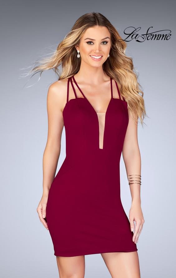 Picture of: Short Tight Homecoming Dress with Thin Straps, Style: 25139, Main Picture