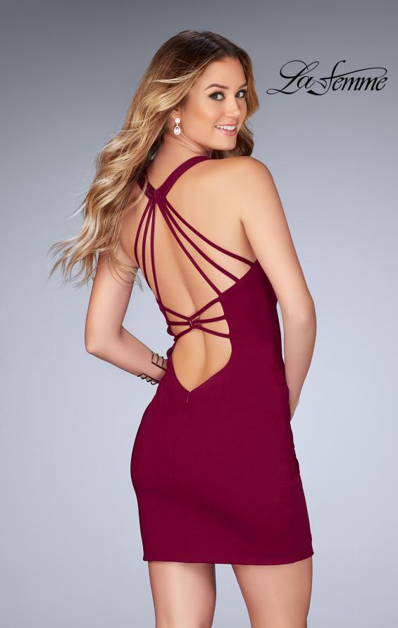 Picture of: Short Tight Homecoming Dress with Thin Straps, Style: 25139, Back Picture