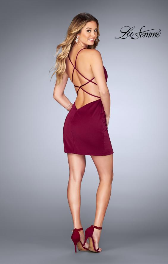 Picture of: Gathered Jersey Short Dress with Strappy Back, Style: 25127, Detail Picture 3