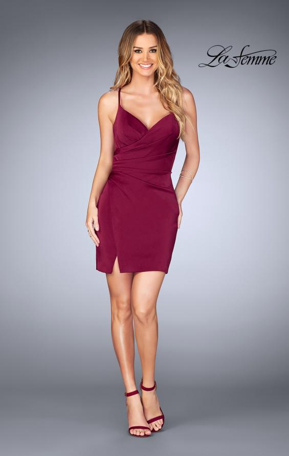 Picture of: Gathered Jersey Short Dress with Strappy Back, Style: 25127, Detail Picture 4