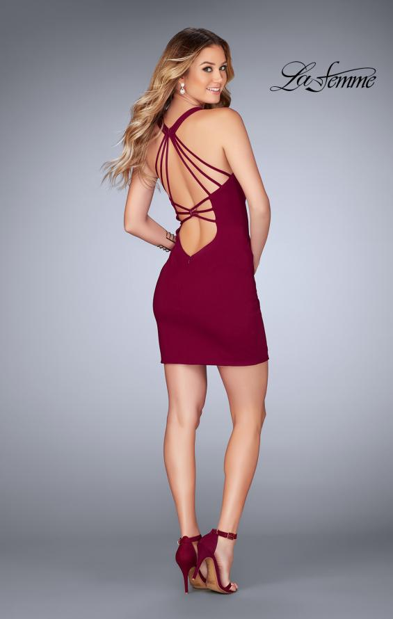 Picture of: Short Tight Homecoming Dress with Thin Straps, Style: 25139, Detail Picture 5