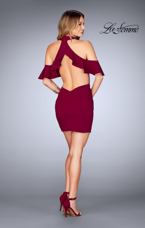 Picture of: Ruffle Halter Top Dress with Tight Jersey Skirt, Style: 25147, Detail Picture 7